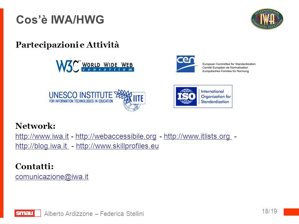 Cos'è IWA/HWG Partecipazioni e Attività Network: Contatti: