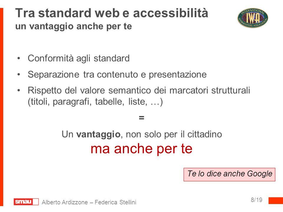 Tra standard web e accessibilità un vantaggio anche per te