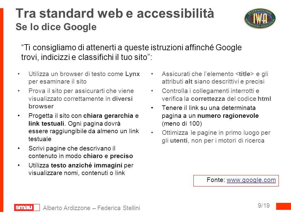 Tra standard web e accessibilità Se lo dice Google