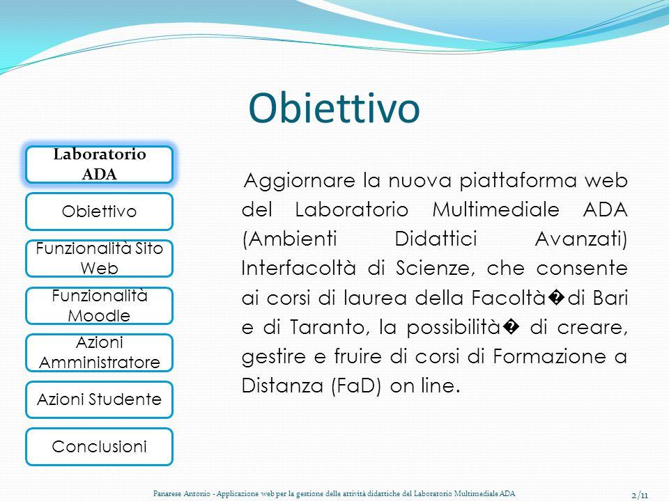Obiettivo Laboratorio ADA.