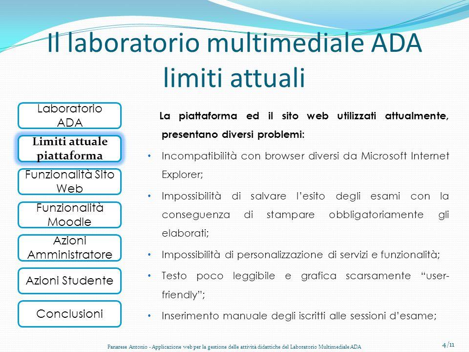 Il laboratorio multimediale ADA limiti attuali