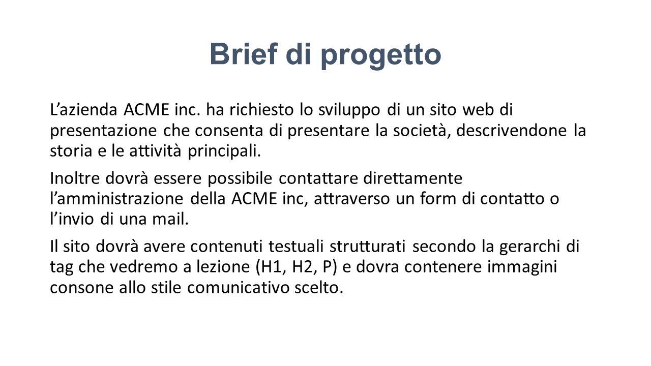 Brief di progetto