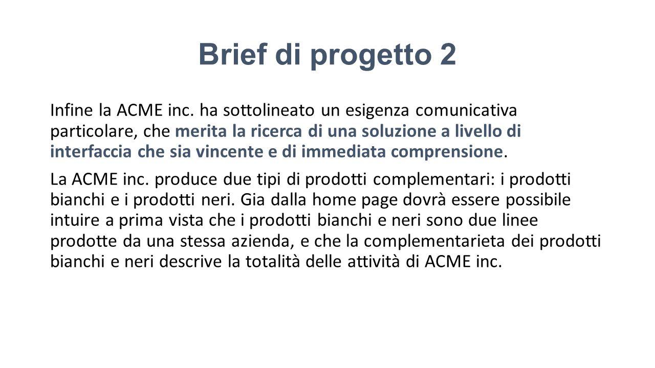 Brief di progetto 2