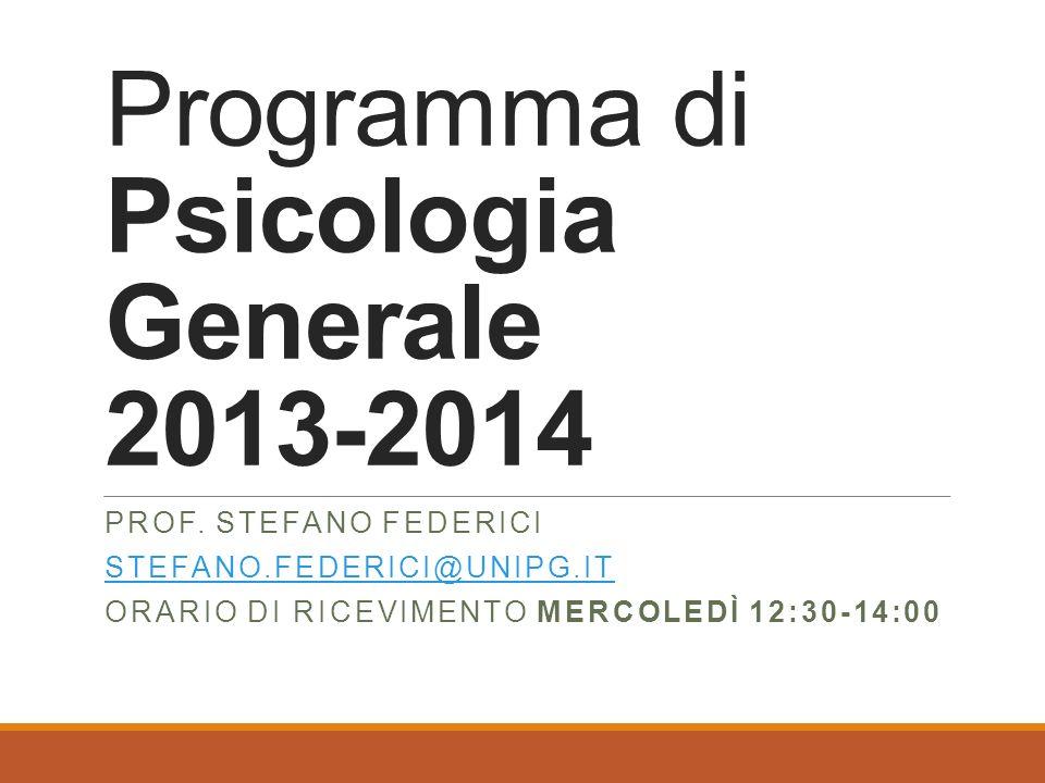 Programma di Psicologia Generale 2013-2014