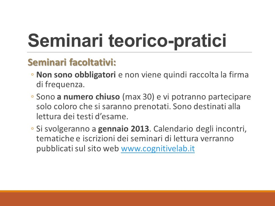 Seminari teorico-pratici