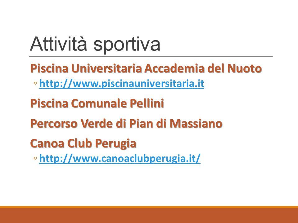 Attività sportiva Piscina Universitaria Accademia del Nuoto