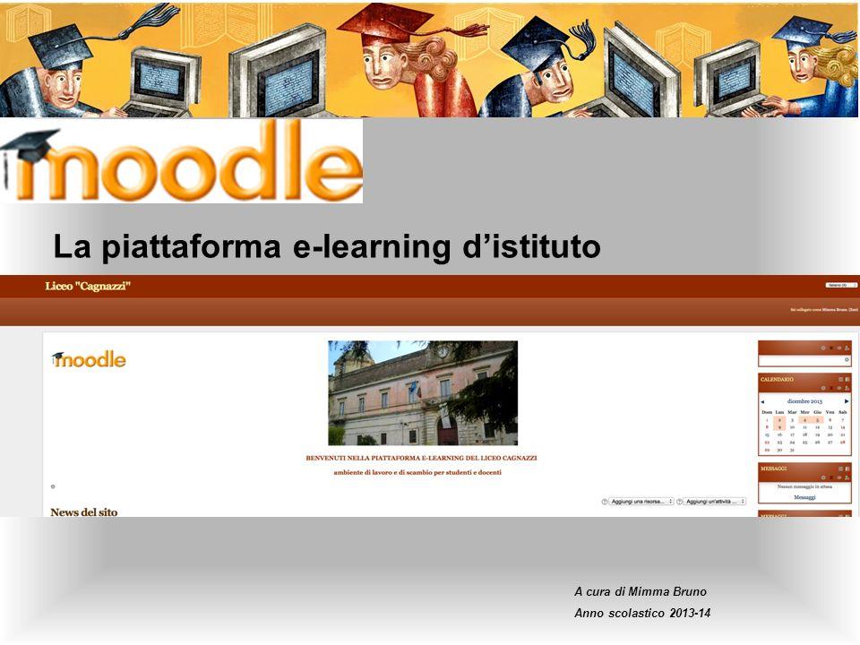 La piattaforma e-learning d'istituto
