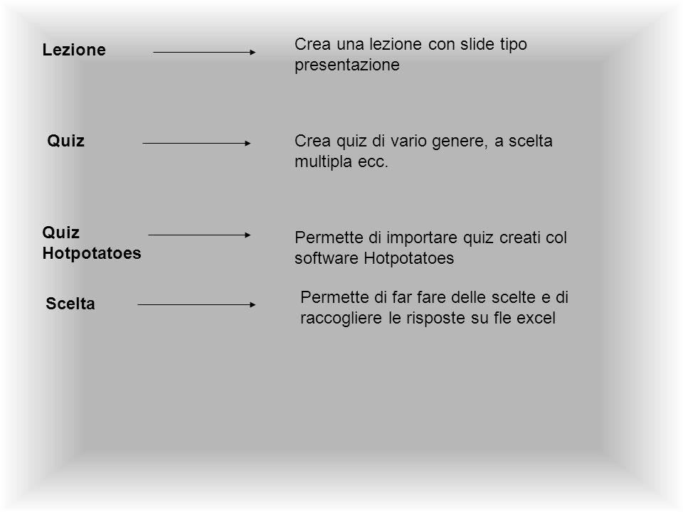 Crea una lezione con slide tipo presentazione