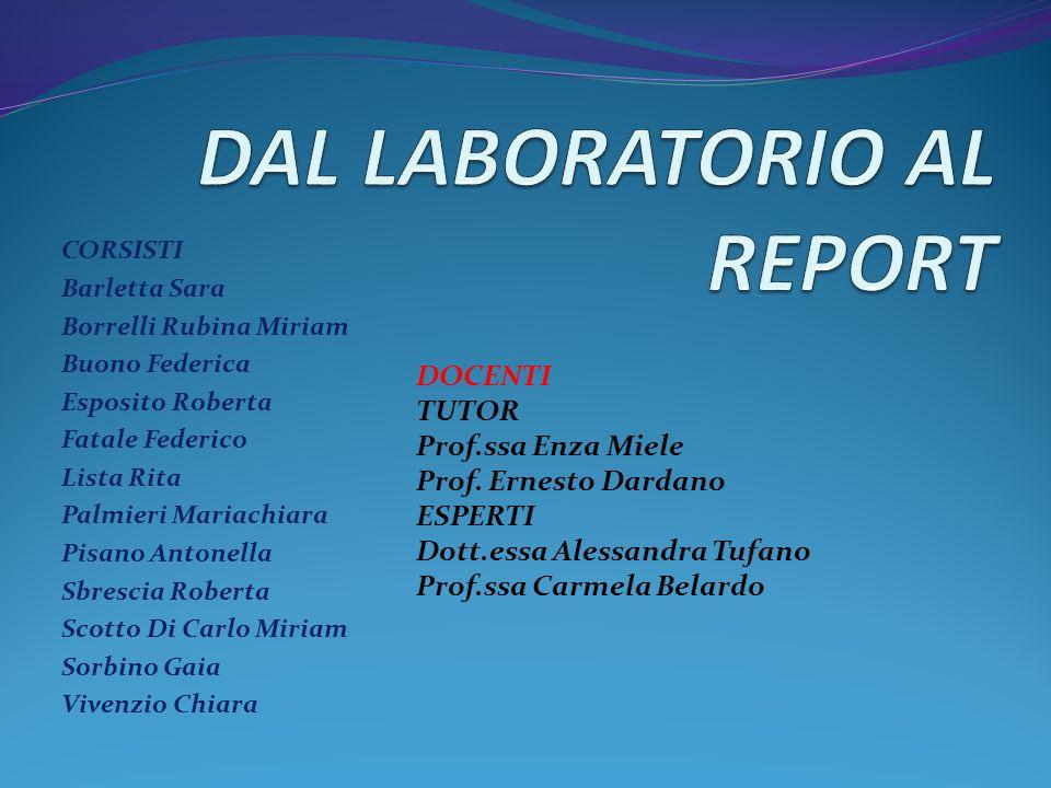 DAL LABORATORIO AL REPORT
