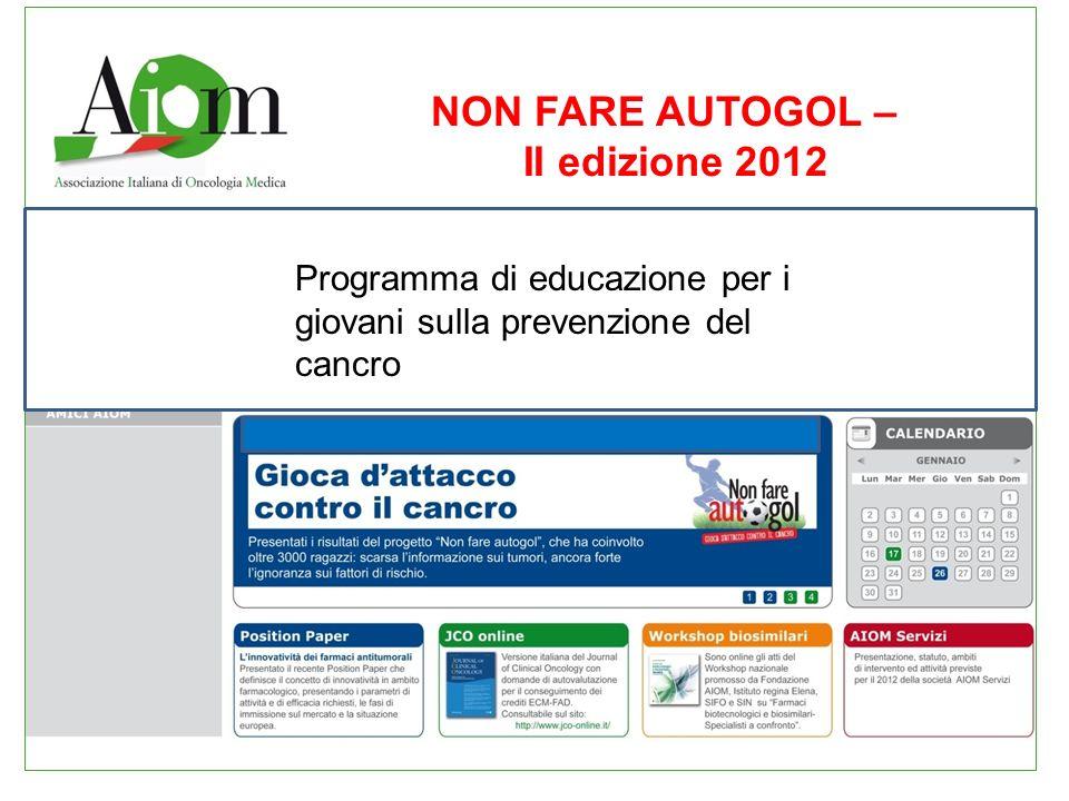 NON FARE AUTOGOL – II edizione 2012