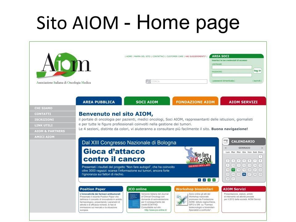 Sito AIOM - Home page