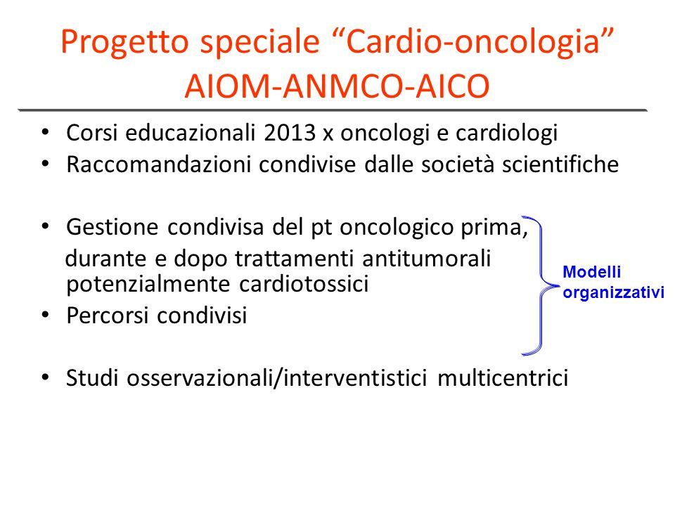 Progetto speciale Cardio-oncologia AIOM-ANMCO-AICO