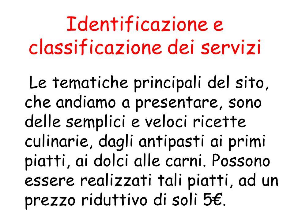 Identificazione e classificazione dei servizi