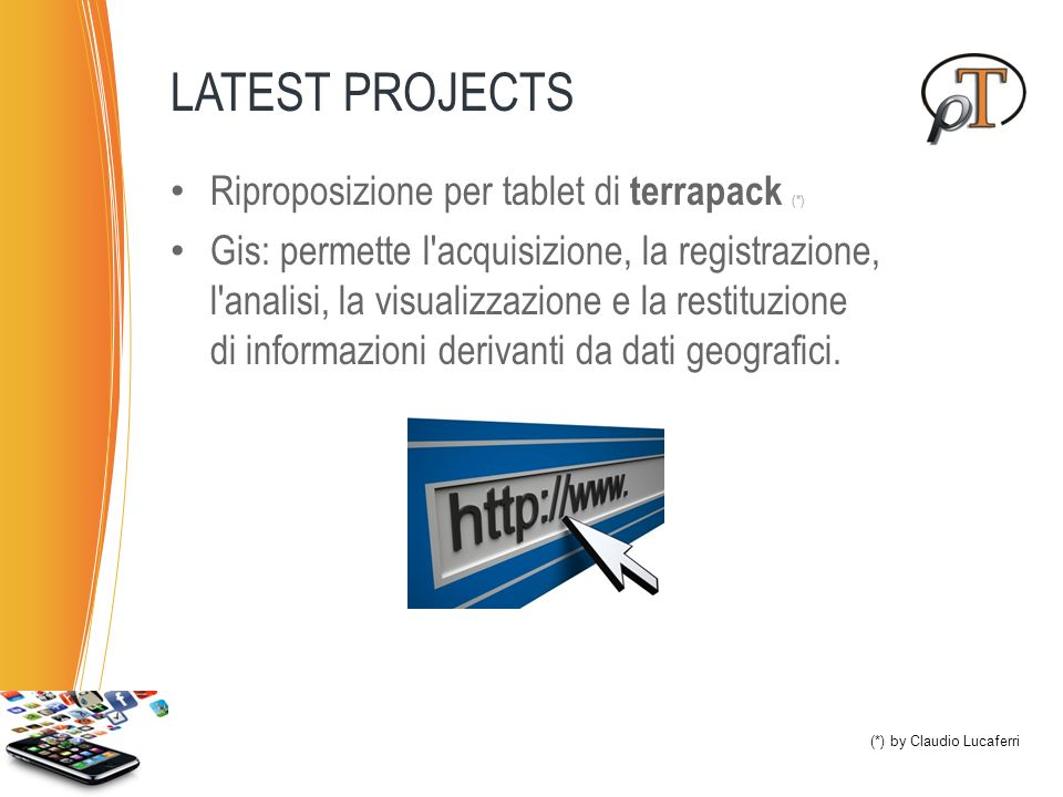 LATEST PROJECTS Riproposizione per tablet di terrapack (*)