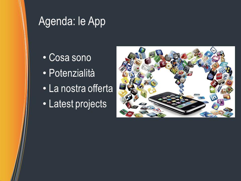 Agenda: le App Cosa sono Potenzialità La nostra offerta