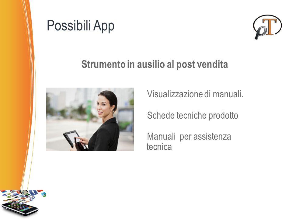 Possibili App Strumento in ausilio al post vendita