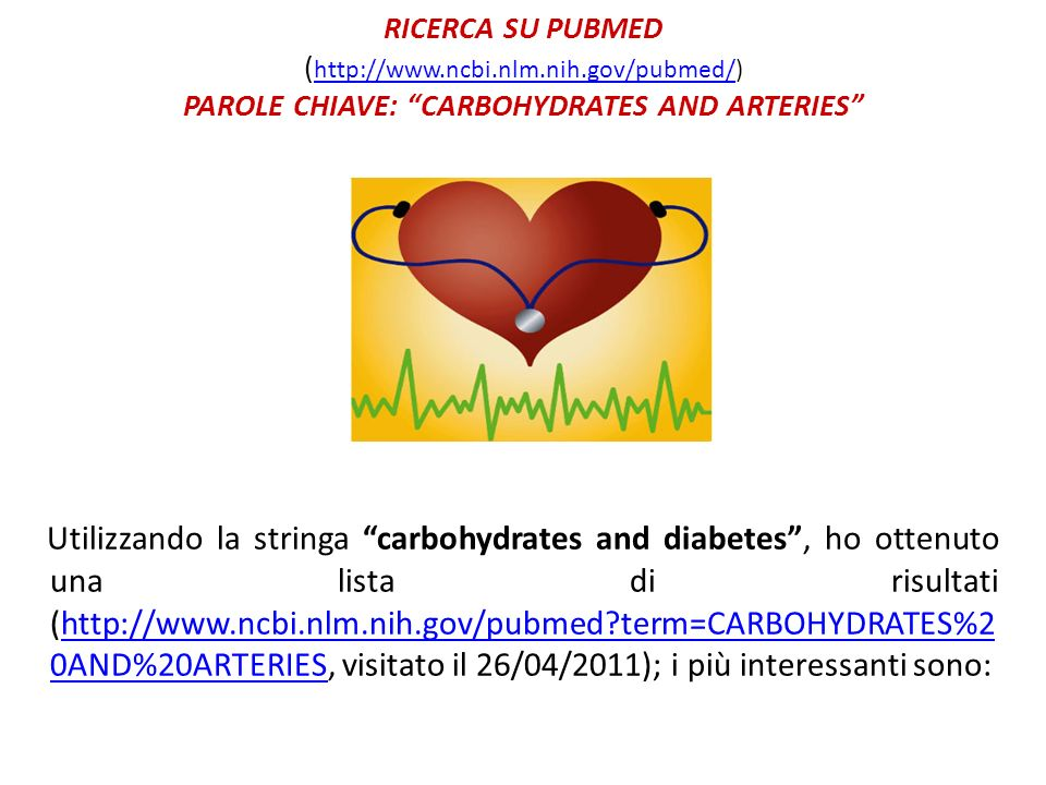 RICERCA SU PUBMED (http://www. ncbi. nlm. nih