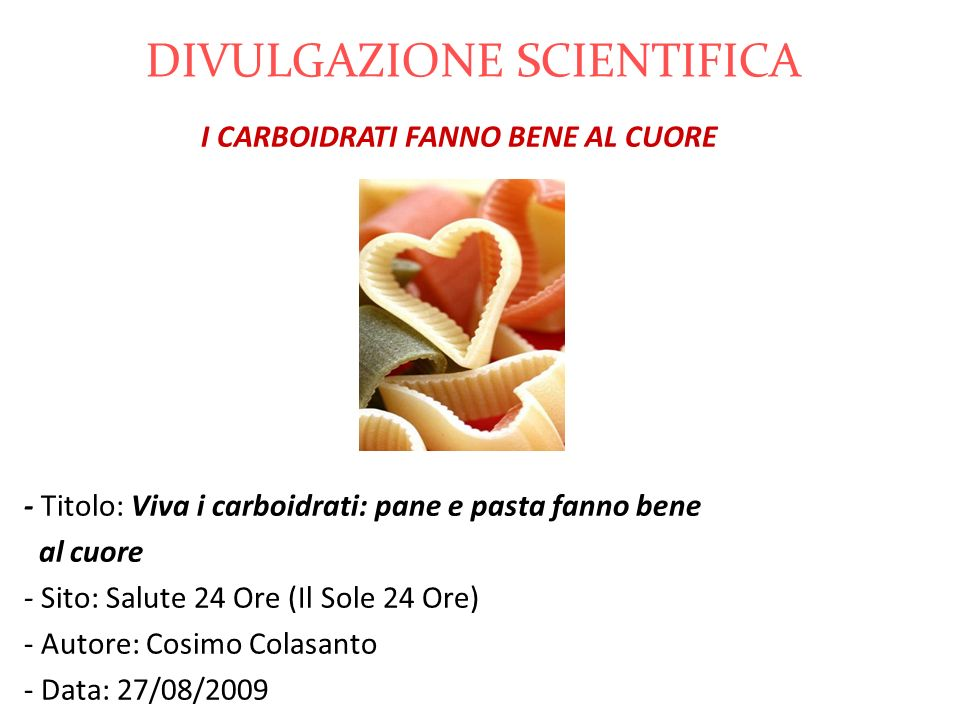 DIVULGAZIONE SCIENTIFICA