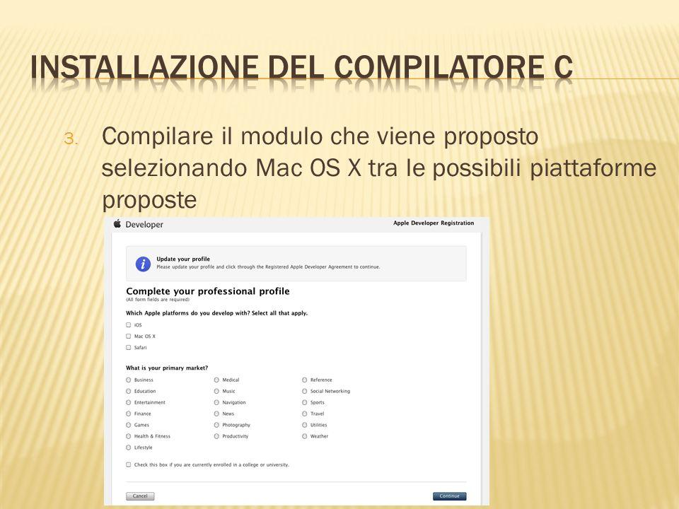 Installazione del compilatore C