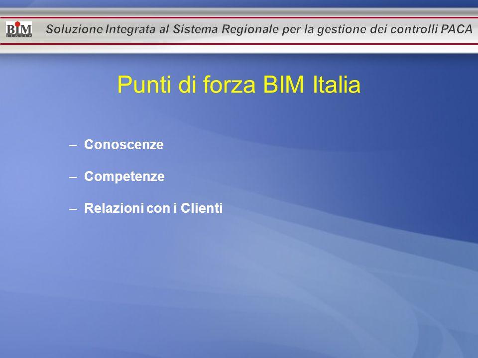 Punti di forza BIM Italia