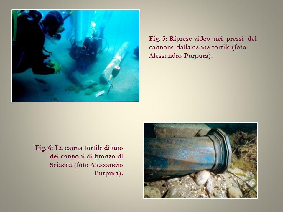 Fig. 5: Riprese video nei pressi del cannone dalla canna tortile (foto Alessandro Purpura).