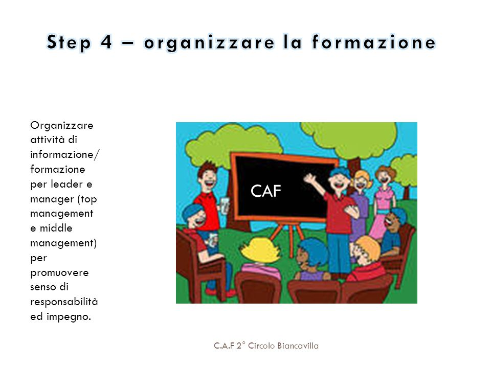 Step 4 – organizzare la formazione