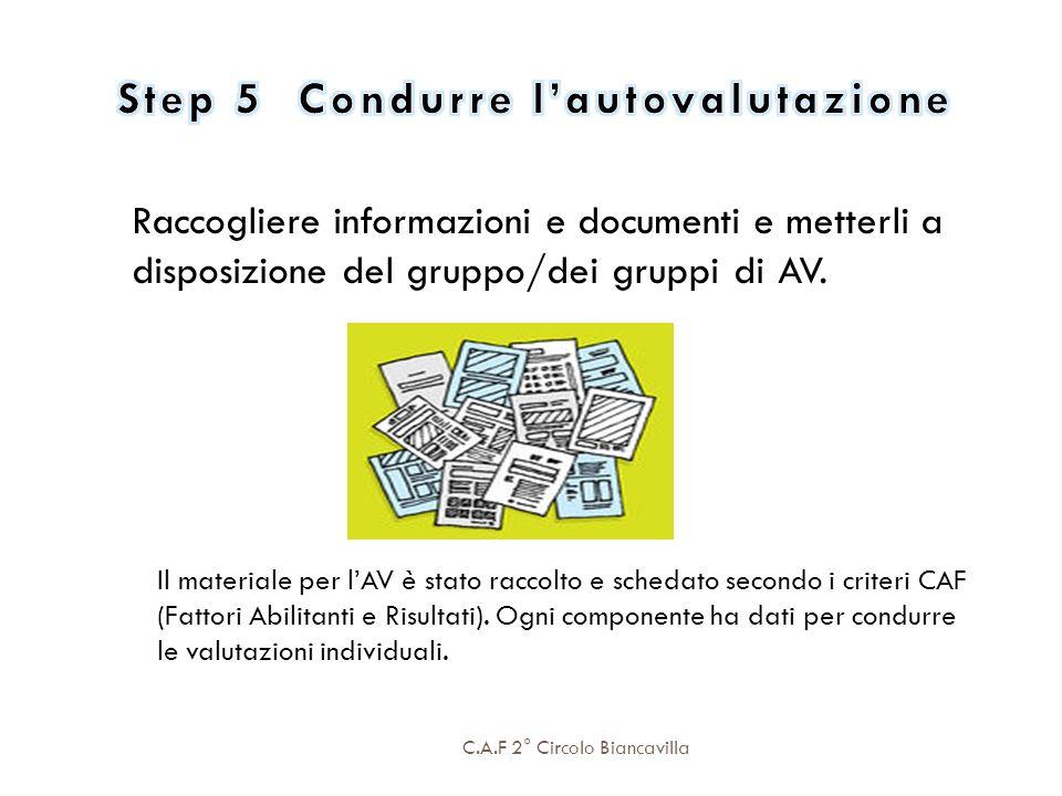 Step 5 Condurre l'autovalutazione