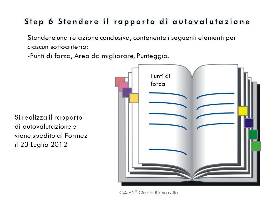 Step 6 Stendere il rapporto di autovalutazione