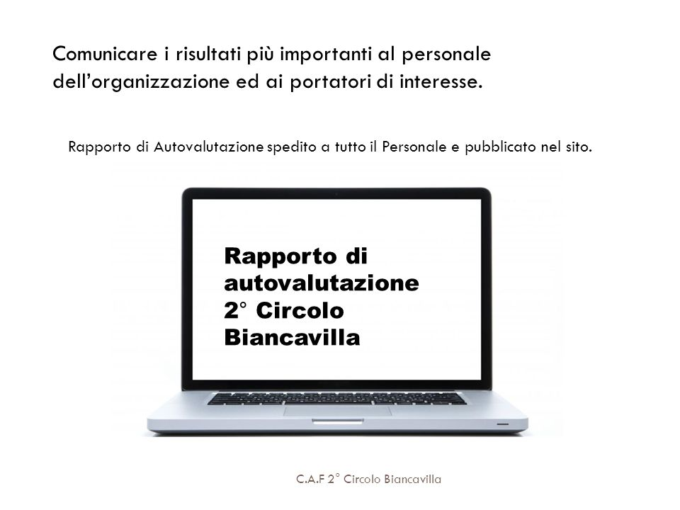 Rapporto di autovalutazione 2° Circolo Biancavilla