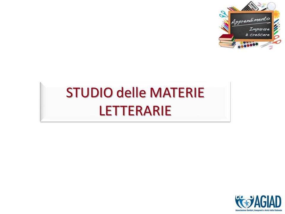 STUDIO delle MATERIE LETTERARIE