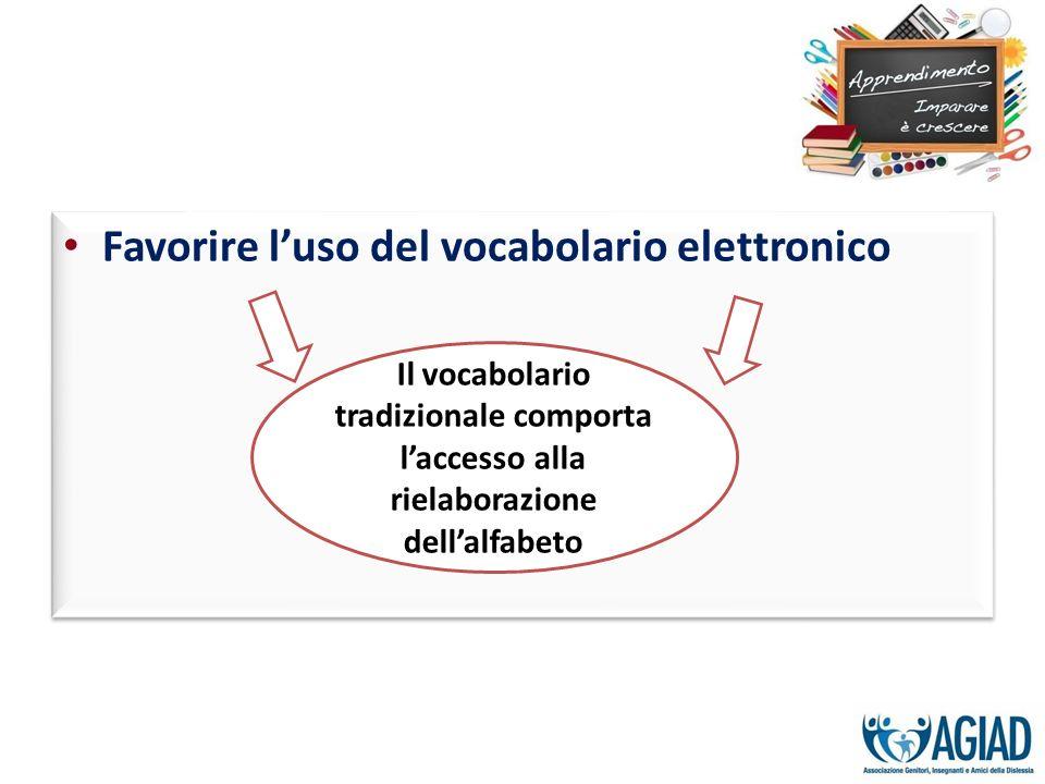 Favorire l'uso del vocabolario elettronico