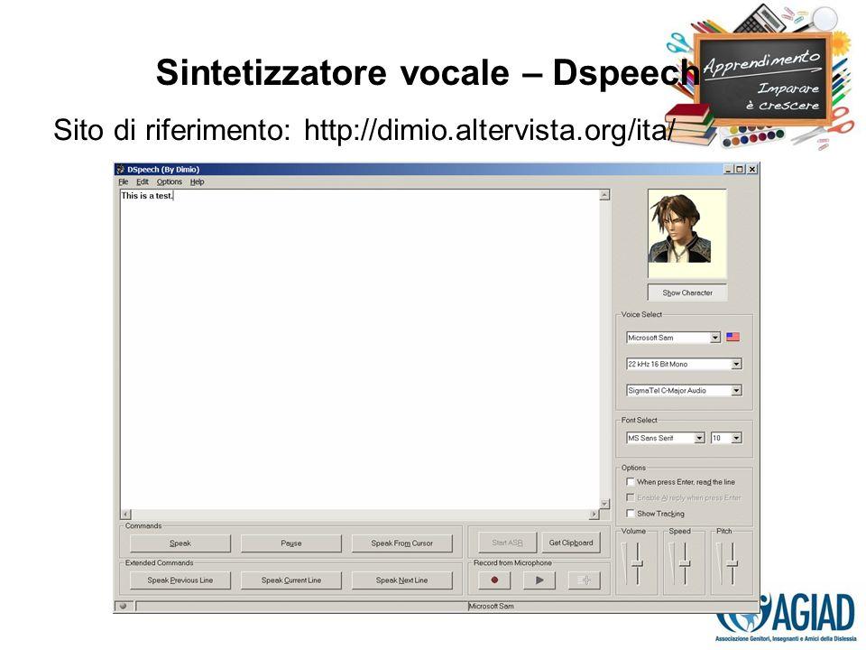 Sintetizzatore vocale – Dspeech