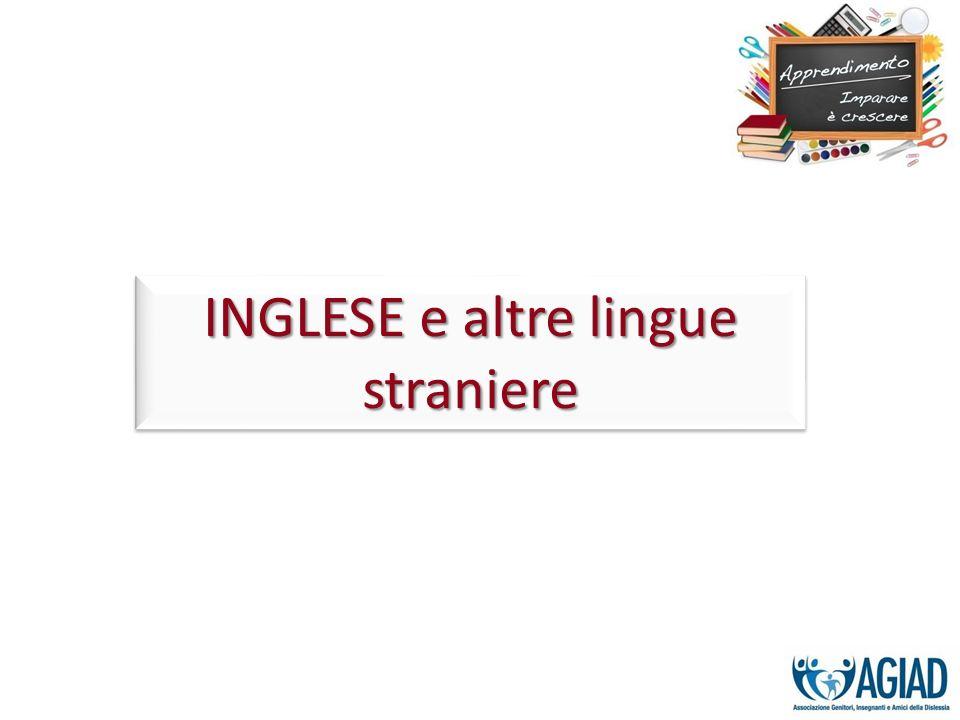 INGLESE e altre lingue straniere