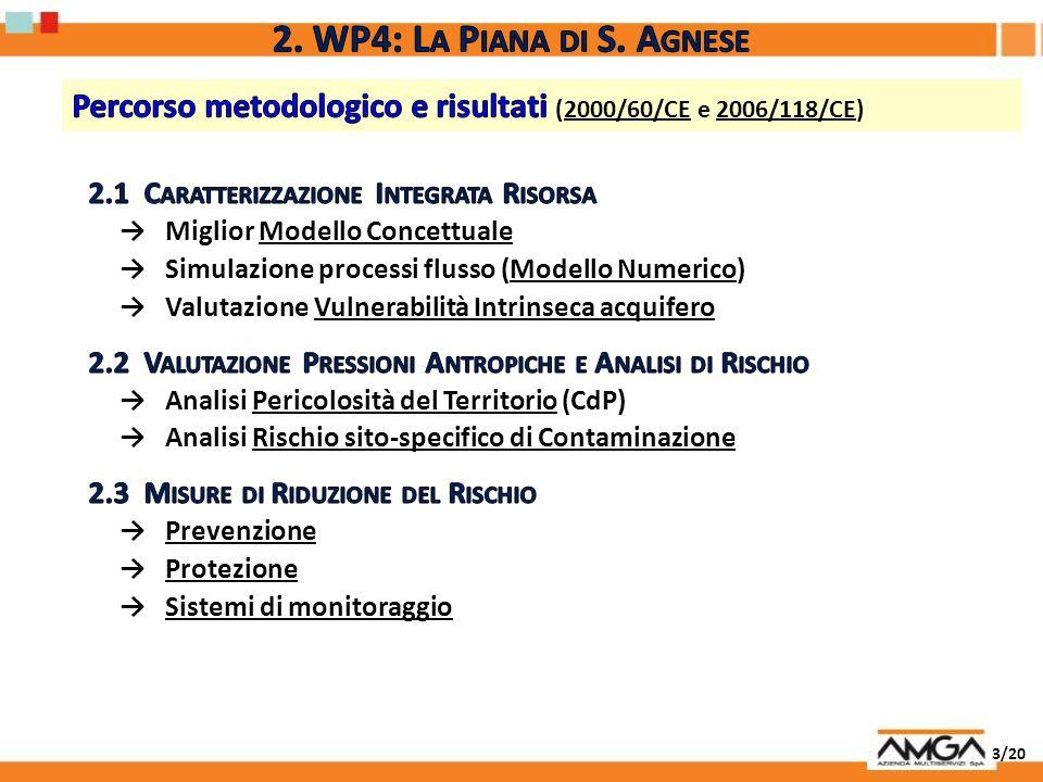 2. WP4: La Piana di S. AgnesePercorso metodologico e risultati (2000/60/CE e 2006/118/CE) 2.1 Caratterizzazione Integrata Risorsa.
