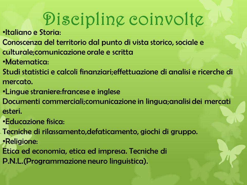 Discipline coinvolte Italiano e Storia: