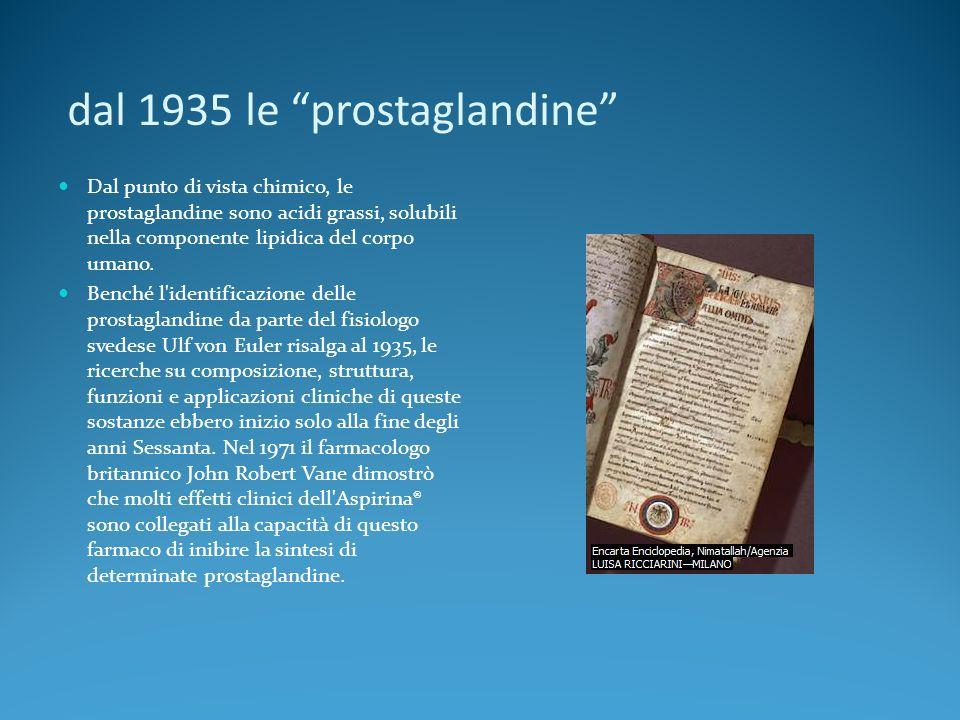 dal 1935 le prostaglandine