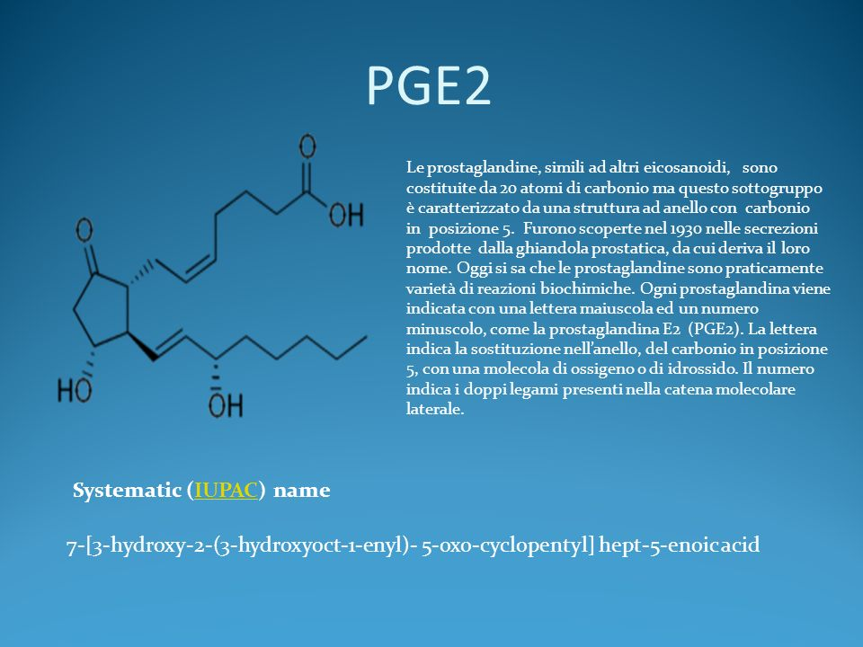 PGE2 Systematic (IUPAC) name