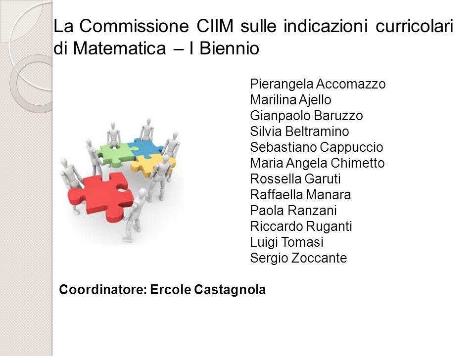 La Commissione CIIM sulle indicazioni curricolari di Matematica – I Biennio