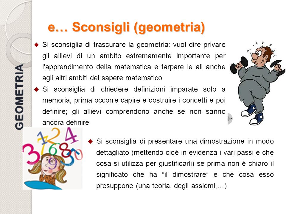 e… Sconsigli (geometria)