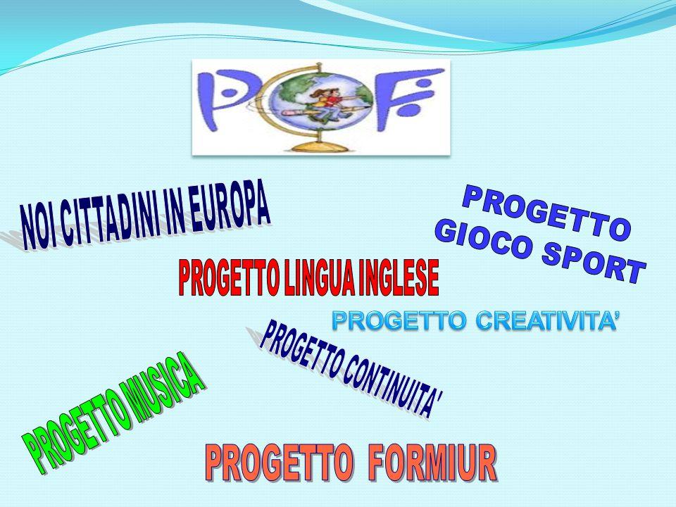 PROGETTO CREATIVITA' PROGETTO CONTINUITA PROGETTO FORMIUR PROGETTO