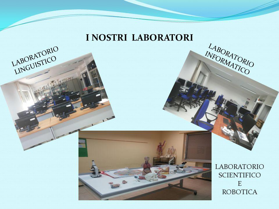 I NOSTRI LABORATORI LABORATORIO LINGUISTICO LABORATORIO INFORMATICO