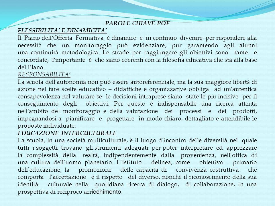 PAROLE CHIAVE POF FLESSIBILITA' E DINAMICITA'