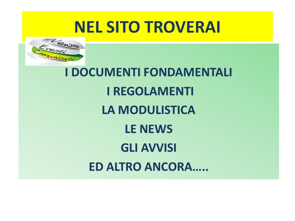 I DOCUMENTI FONDAMENTALI