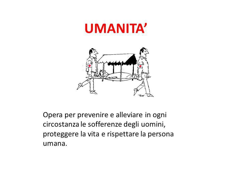 UMANITA' Opera per prevenire e alleviare in ogni