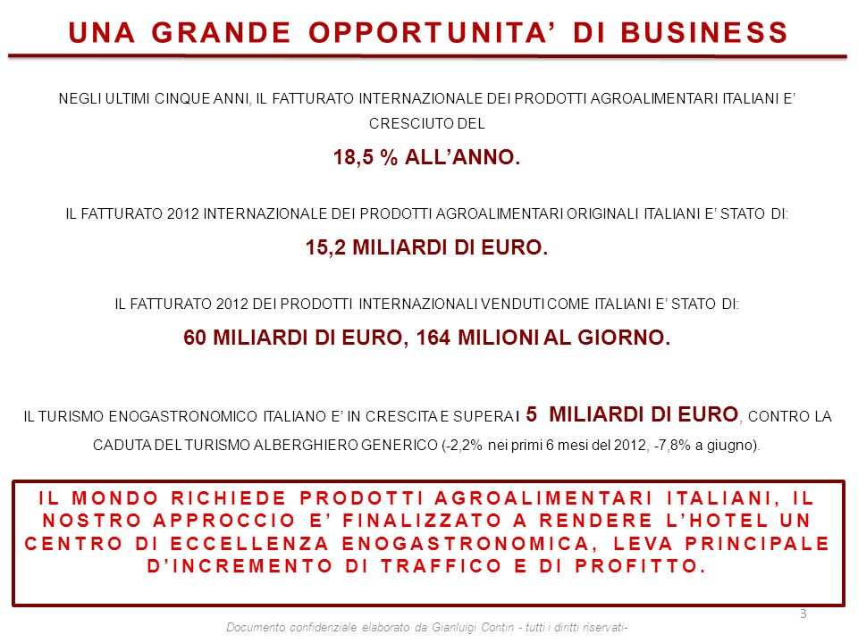 UNA GRANDE OPPORTUNITA' DI BUSINESS