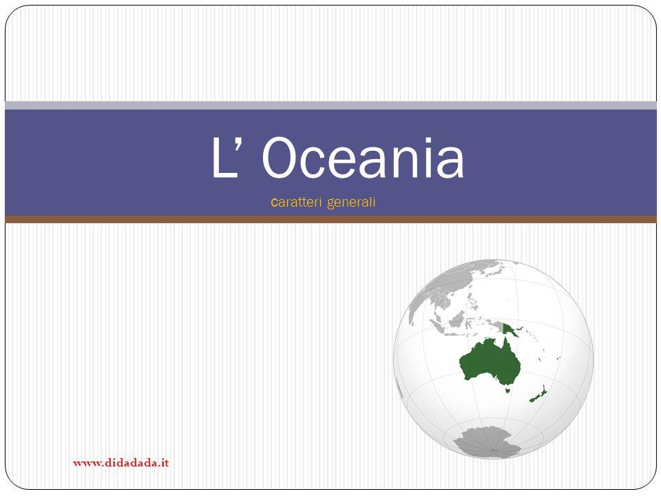 L' Oceania caratteri generali