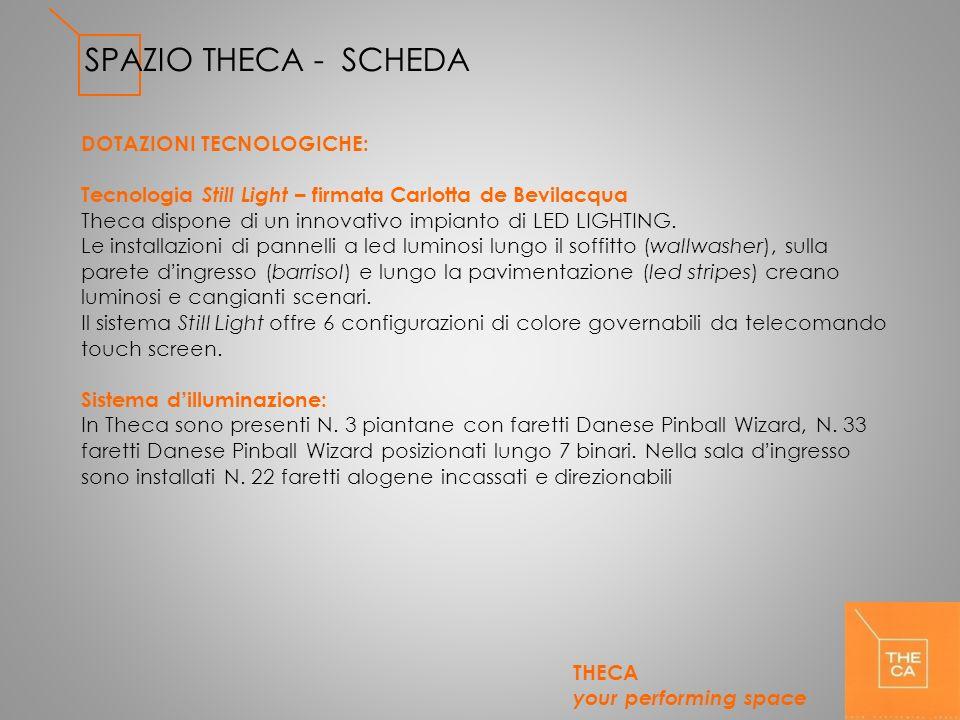 SPAZIO THECA - SCHEDA DOTAZIONI TECNOLOGICHE: