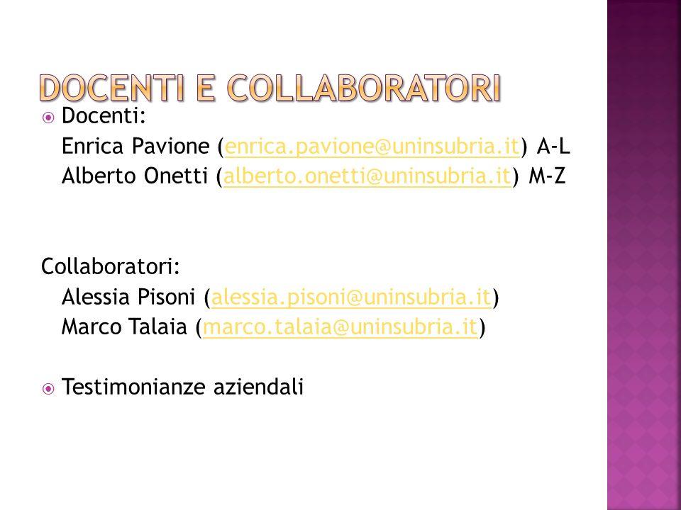 Docenti e collaboratori