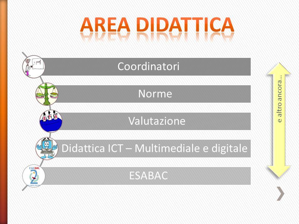 AREA DIDATTICA Coordinatori Norme Valutazione