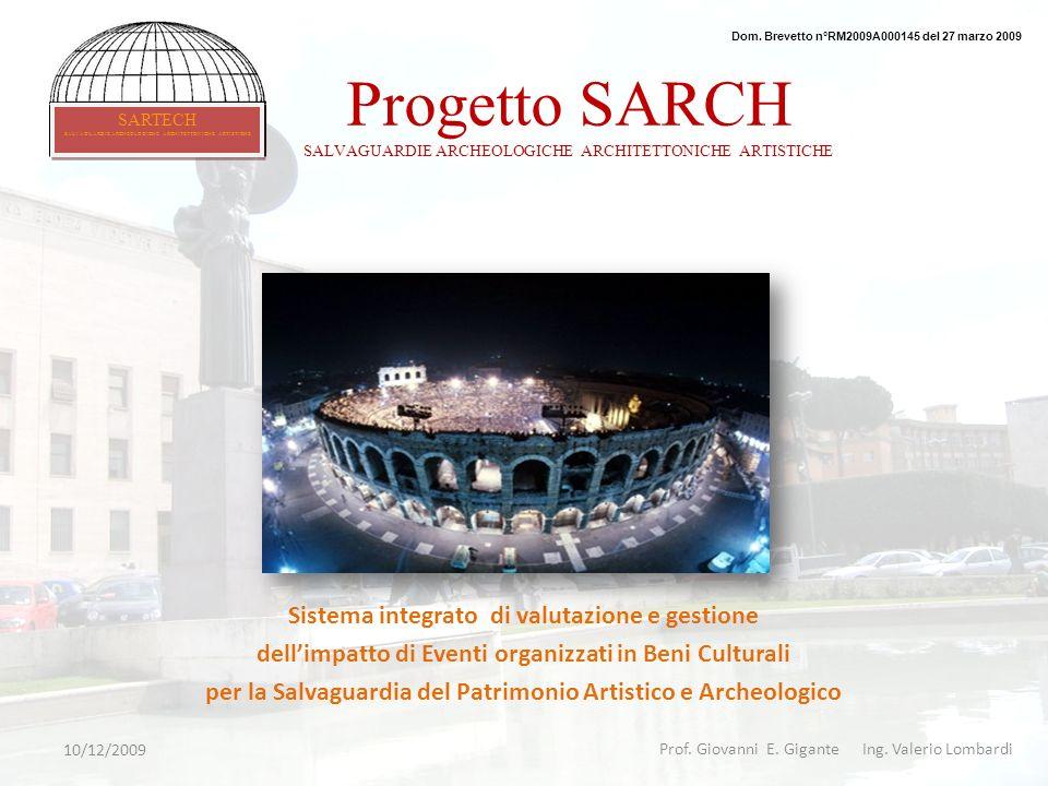 Progetto SARCH SALVAGUARDIE ARCHEOLOGICHE ARCHITETTONICHE ARTISTICHE